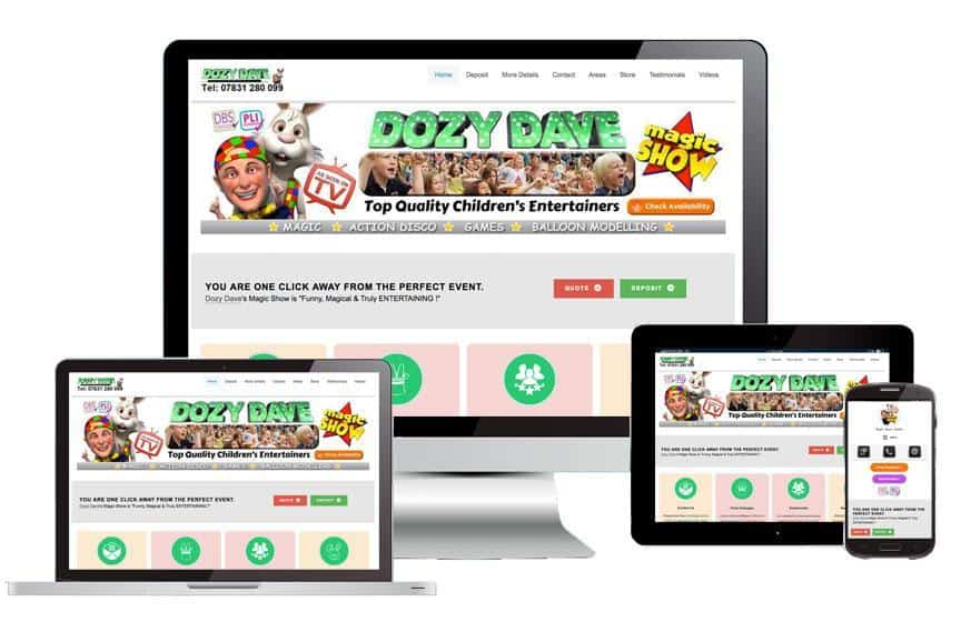 Web Design for children's entertainers